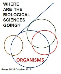 "Banner congresso ""Where are the biological sciences going?"""