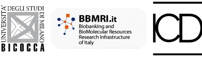 Loghi Università Bicocca - BBMRI Biobanking and BioMolecular Resources Research and Infrastructure of Italy - ICDI